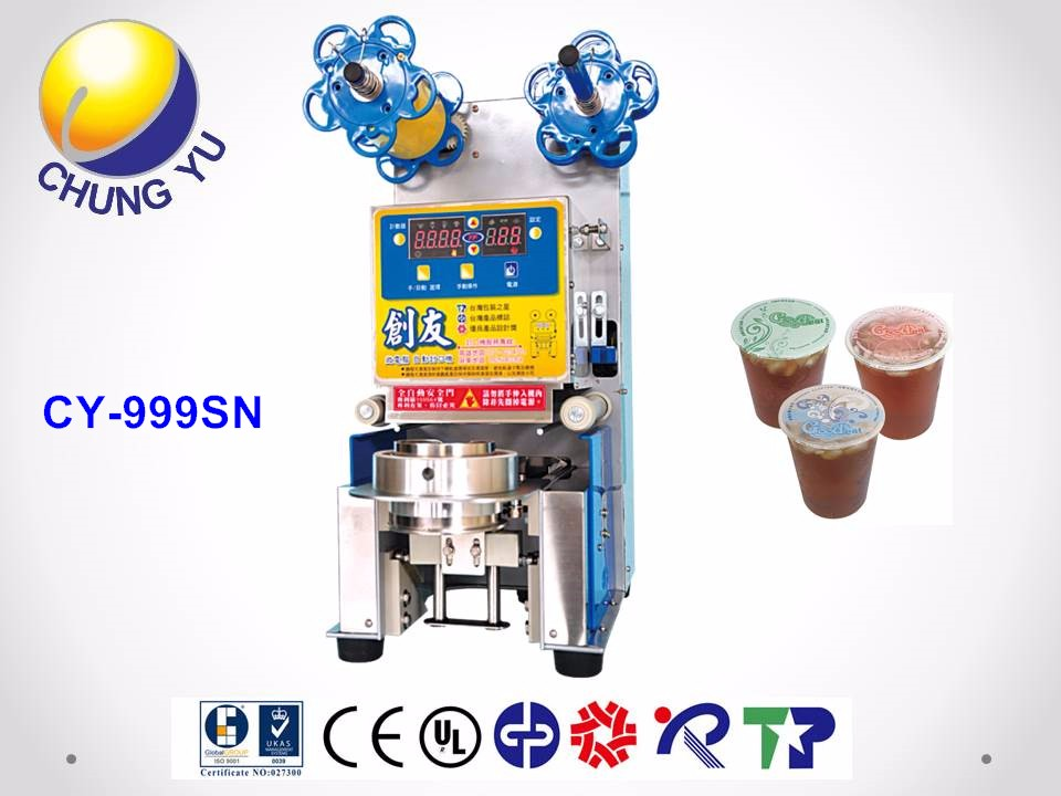 Taiwan Made Automatic Soy Bean milk Table type Induction Sealing Machine For Sale