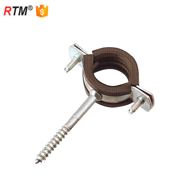 L 17 3 15 double pipe clamp with rubber 20mm width heavy duty pipe clamp