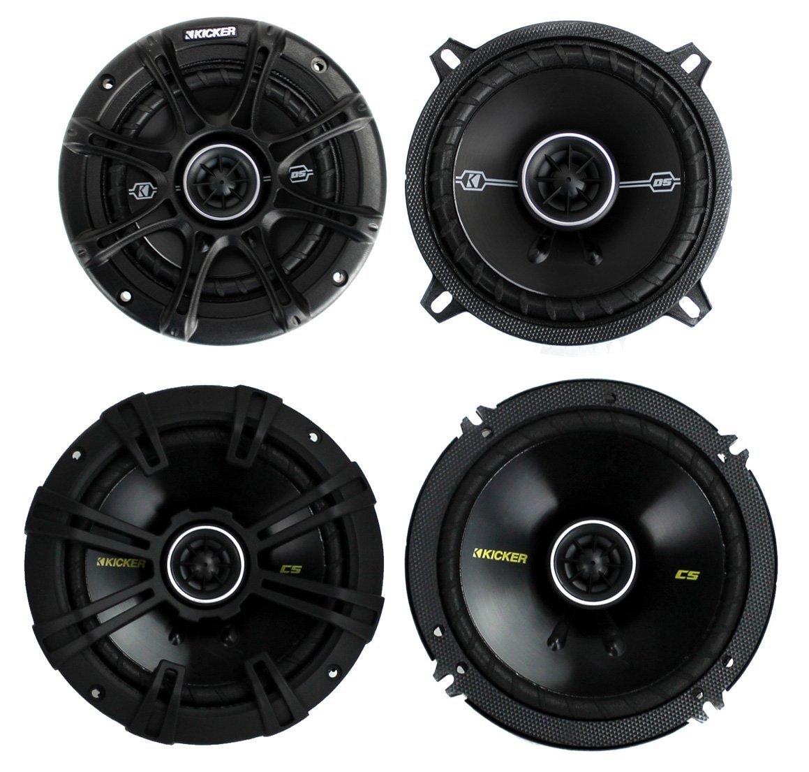 """2) Kicker 41DSC54 5.25"""" 200 Watt + 2) 40CS654 6.5"""" 300 Watt 2-Way Car Speakers"""