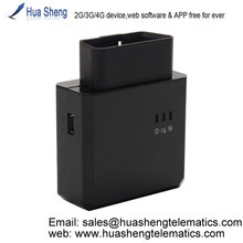 obd gps tracker, 2G, 3G, 4G, support WiFi Hotspot, software & APP free for ever, OBD dongle