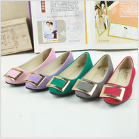 China import high quality casual women shoes comfortable beautiful round toe flat korean style work shoes for ladies