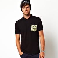 100 cotton pocket polo shirts with print pocket