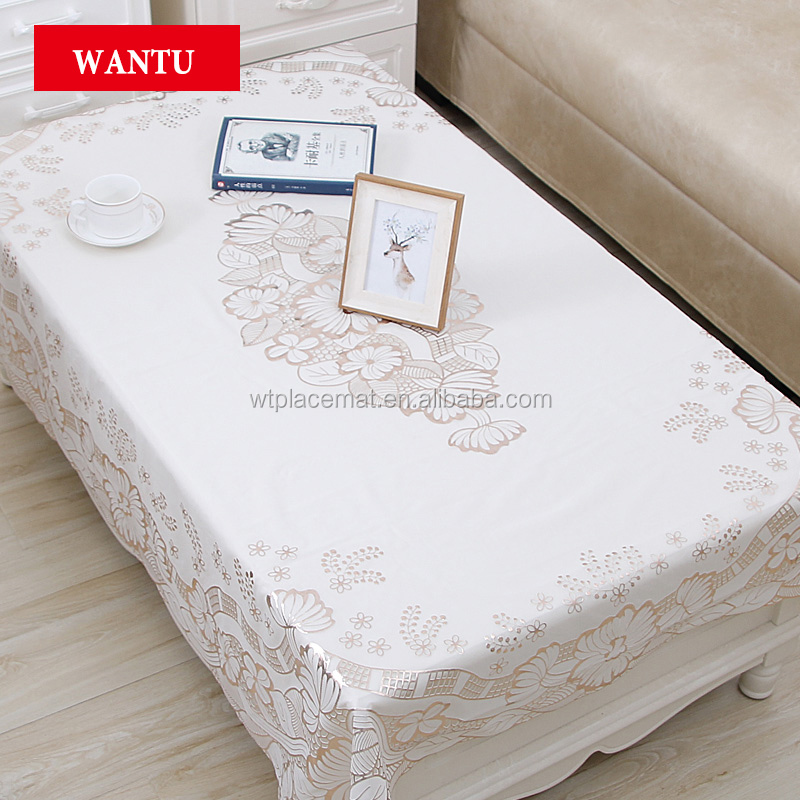 Creative Coverting Roll Plastic Tablecover, 120cm x 150cm, Rose Gold Table Cloth