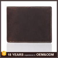 Guangzhou Supplier Vintage Cowhide Leather Driving License Bifold Short Mens Wallet Brands Top 10