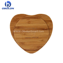Wholesale wood/bamboo wireless charger plates with receiver case for iphone 8