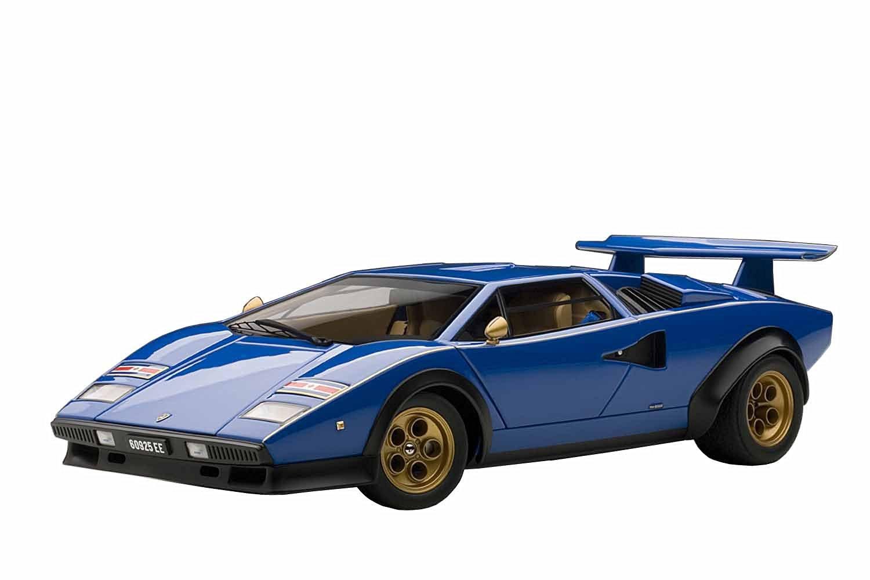 Autoart 1/18 Lamborghini Countach Lp400 (Blue) (Japan Import)