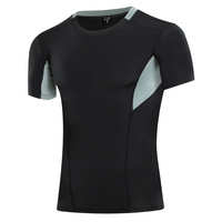 Men Sports Shirt Summer Quick Dry Compression Running Gym Clothing Workout Tight Shirts Soccer Basketball Jersey SL152