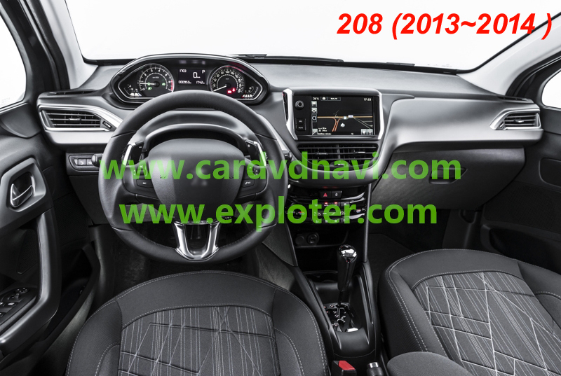 new stock price car multimedia interface for peugeot 208. Black Bedroom Furniture Sets. Home Design Ideas