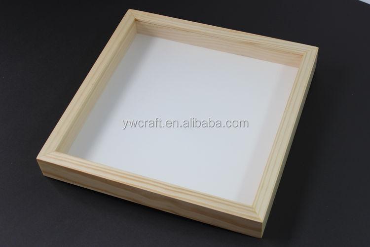 3d en bois shadow box cadre vente chaude blanc noir couleur noyer buy product on. Black Bedroom Furniture Sets. Home Design Ideas