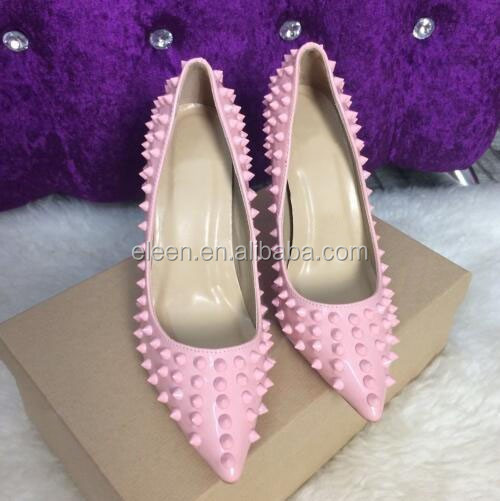 quality Studded toe shoes pointed heel sexy high 4wqBSw