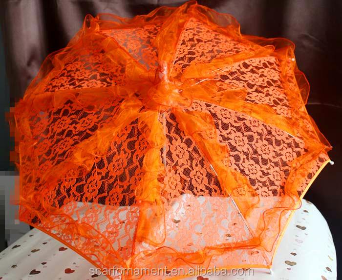 c7285f559a85 Rosso Rosa Bianco Nero Dritto Pizzo Decorazione Matrimonio Ombrello ...