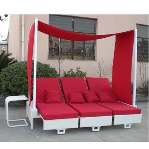 garden furniture outdoor rattan daybed with canopy outdoor furniture