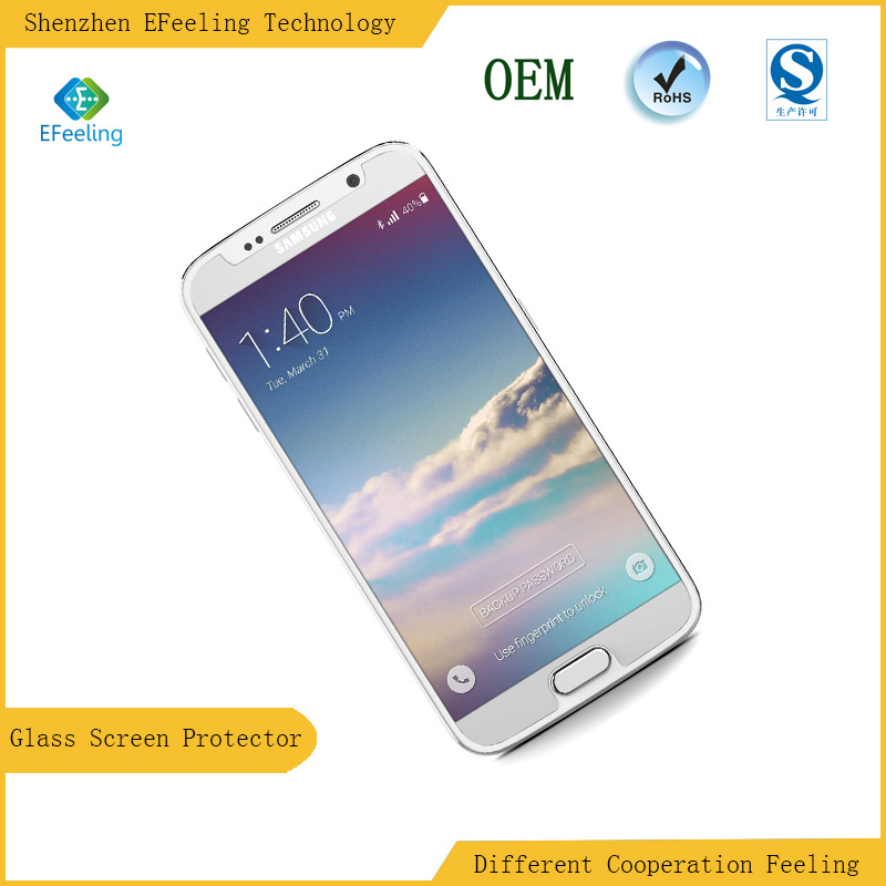 Very Low Price High Quality 2.5D Mobile Phone Tempered Glass Screen Protector For Sumsung Galaxy S6