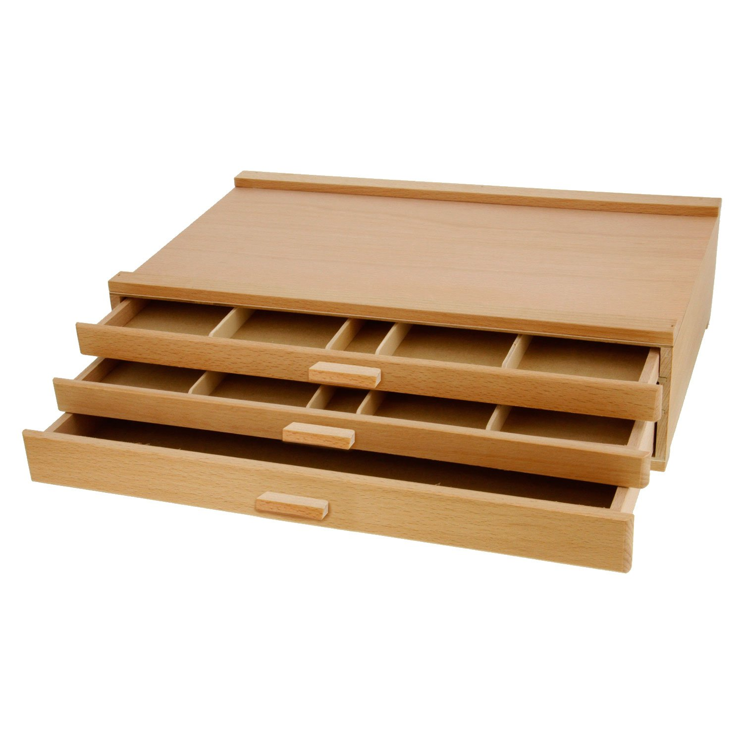 3 Drawer Wood Pastel Storage Box 15-3//4 x 9-1//2 x 3-1//2 inches
