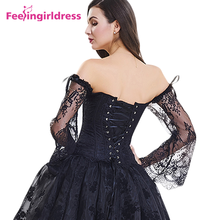 f8d6358754c Back Lace Sleeves Overbust Steampunk Half Cup Corset Bustier - Buy ...
