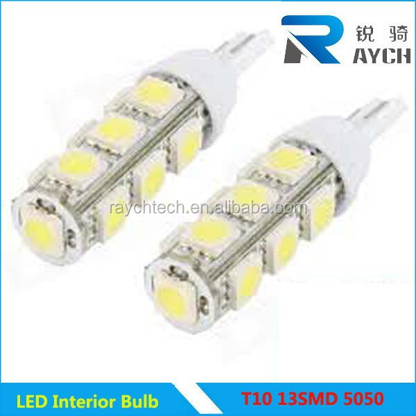 Hot!!! Popular Led Car Side Light T10 13smd 5050 Led T10 Led Auto ...