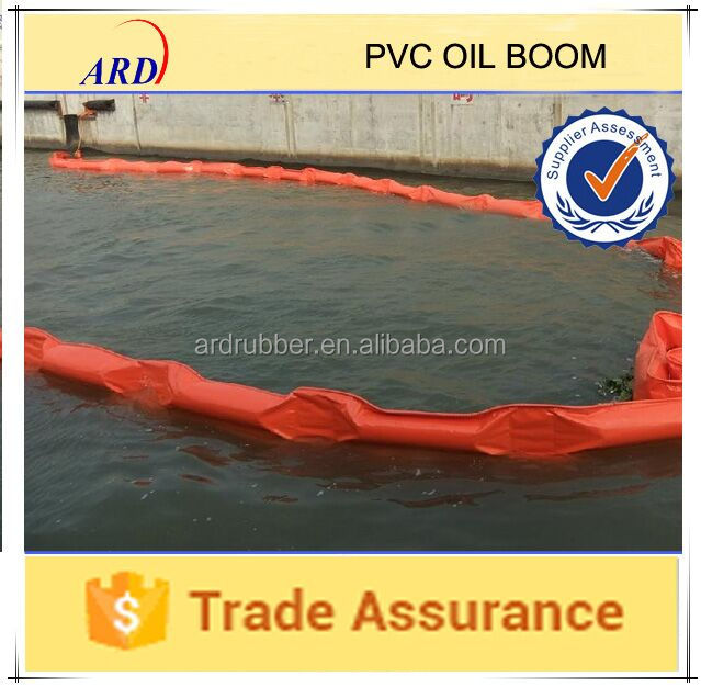 Pvc Oil Boom For Containing Oil Spill On The Sea