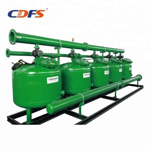 Automatic sand filter for waste water pretreatment