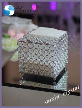 Magnifique boîte à Mouchoirs En Cristal pour des faveurs de mariage cadeaux  ... 03acb93a297