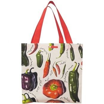 Utility grocery travel handbag shopper tote bags pp laminated shopping bag