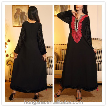 Fashion Designer Winter Front Neck Embroidery Designs For Long