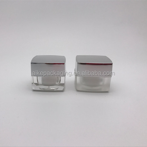 hot stamping logo cosmetic promotional small container cheap clear plastic sample jar 5g