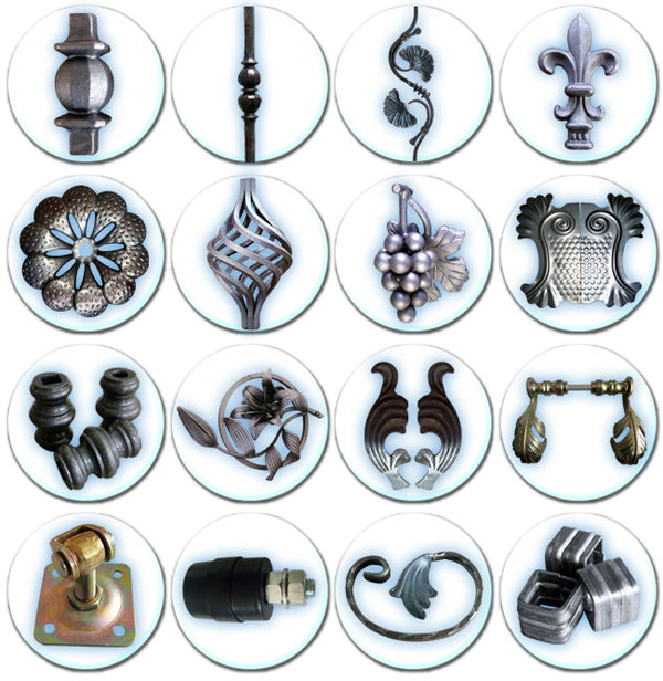 wrought iron components fence railings iron pickets forged steel bars