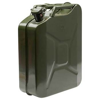 20 liter rvs Green jerry kan
