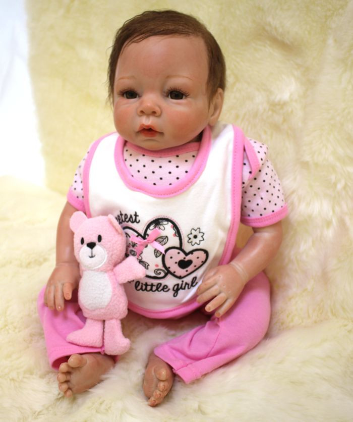 18 Inch Silicone Baby Reborn Dolls For Sale Bebes Reborn