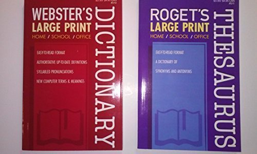 Large Print Word Puzzle Reference Set Includes Webster's Large Print Dictionary & Roget's Large Print Thesaurus by Kappa