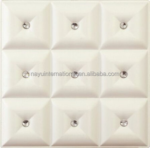 3D carved leather glass decorative interior Wall board exterior wall cladding tiles