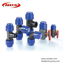 all kinds of pp pe compression pipe fittings for irrigation pipe water supply