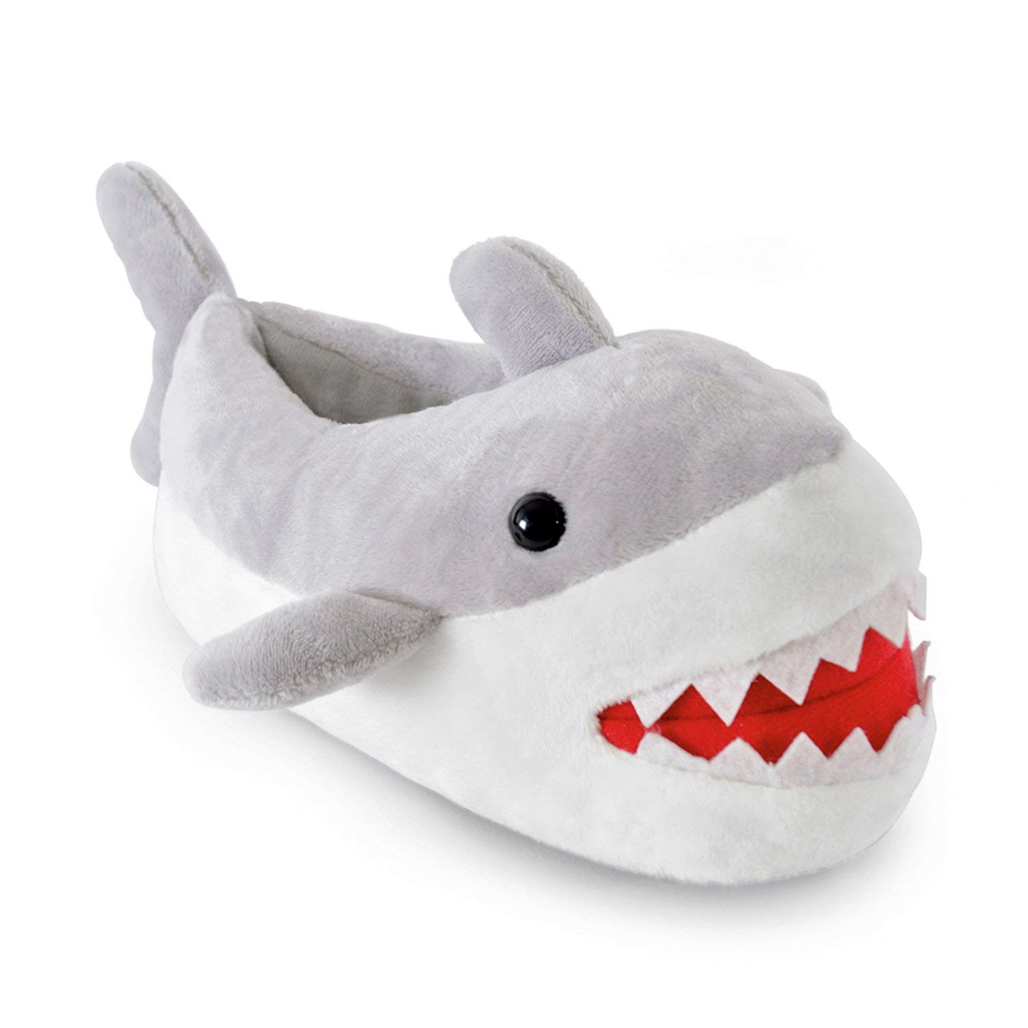 0be33c1ae Get Quotations · Childrens/Kids/Boys Novelty Shark Boot Slippers with Shark  Teeth Detail, Various Sizes