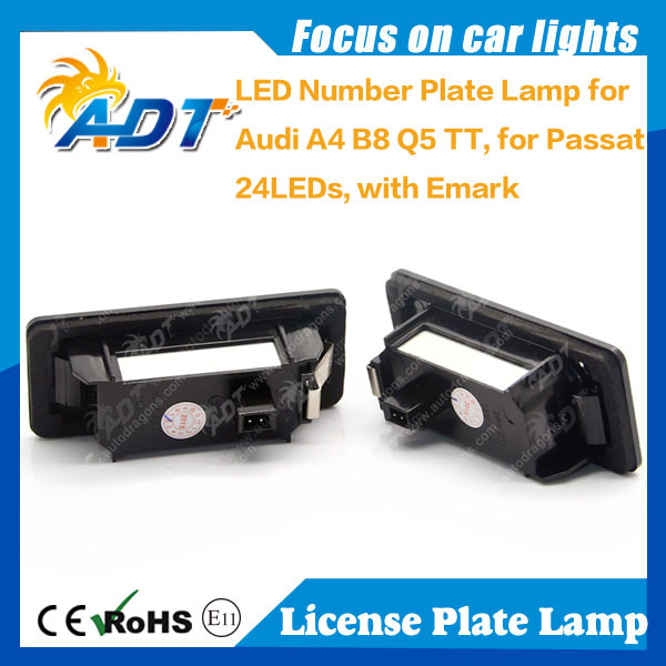 Two year warranty Car Q5 Super Canbus LED Number Plate lamp light for Audi A4 B8 A4 4D S5 A5 TT for VW Passat 5d R36 Auto Parts