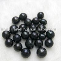 9-10mm cheap loose black round freshwater pearl