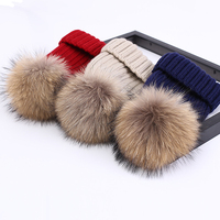 wholesale new fashion warm winter knitted beanie fur ball cap