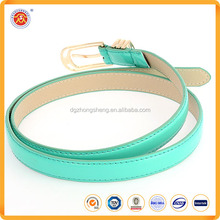 Candy Colour Lady New Fashion PU cheap leather belt for sales