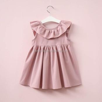 884002d98e17 New Soft Baby Cotton Frocks Designs Girls Soild Color Princess Dress ...