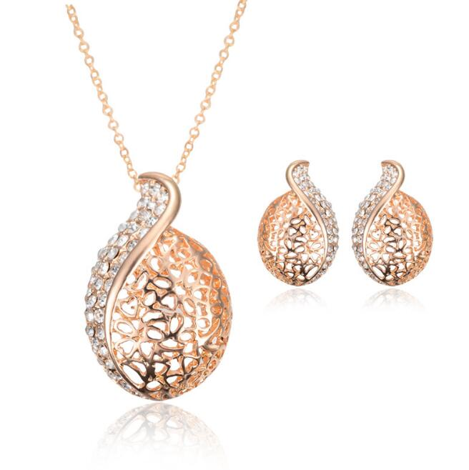 Factory gold jewelry sets high quality fashion pearl jewelry sets wedding for women