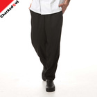 High quality classic black overalls pants hotel uniforms pants work clothes chef trousers for the hotel