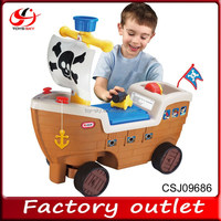 New product Toy Corsair pedal car Electrical Kids ride on car baby walking car with pirate ship shape