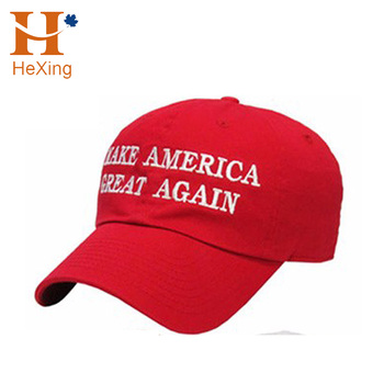 Custom embroidery logo trump hat baseall cap red 6 panel cap with top  quality efdcd0aaeb1