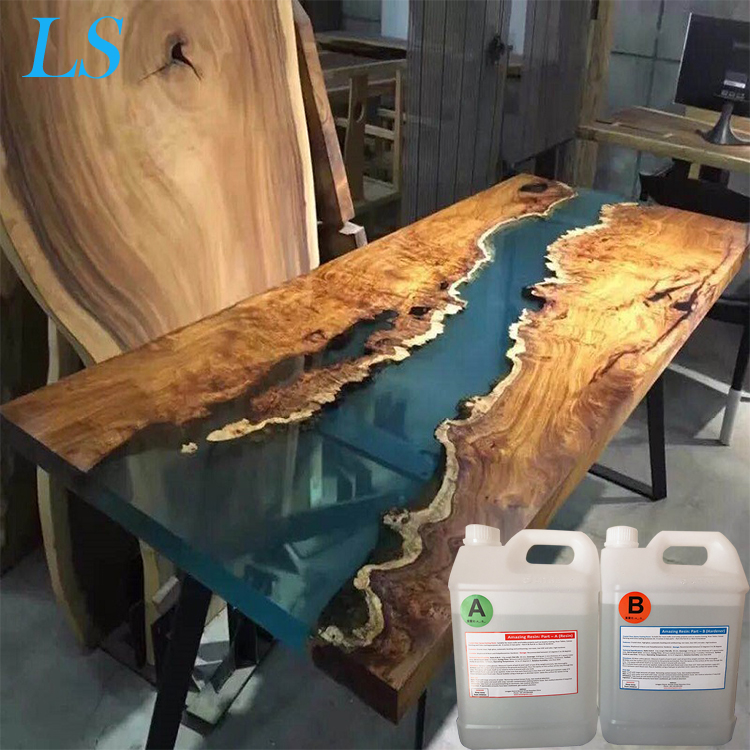 Liquid Two Parts Super Clear Transparent Epoxy Resin AB <strong>Glue</strong> for Wooden Table Casting 2 Part ab Mixture
