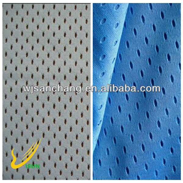 100 Polyester Mesh Fabric For Sport clothing