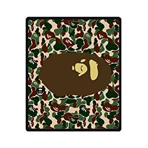 CozyHome bape camo fleece blanket Custom Blanket throw blanket 50 x 60 inch Indoor / Outdoor Blanket (Medium)