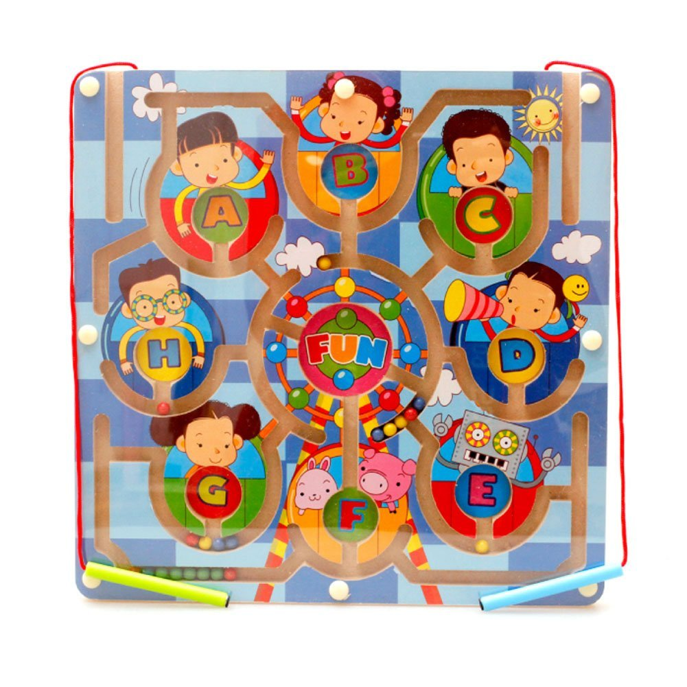 Redcolourful Children Magnetic Labyrinth Toys Interesting Magnetic Maze Toys for Boys and Girls 11.02 11.02 0.59 inch (Ferris Wheel)