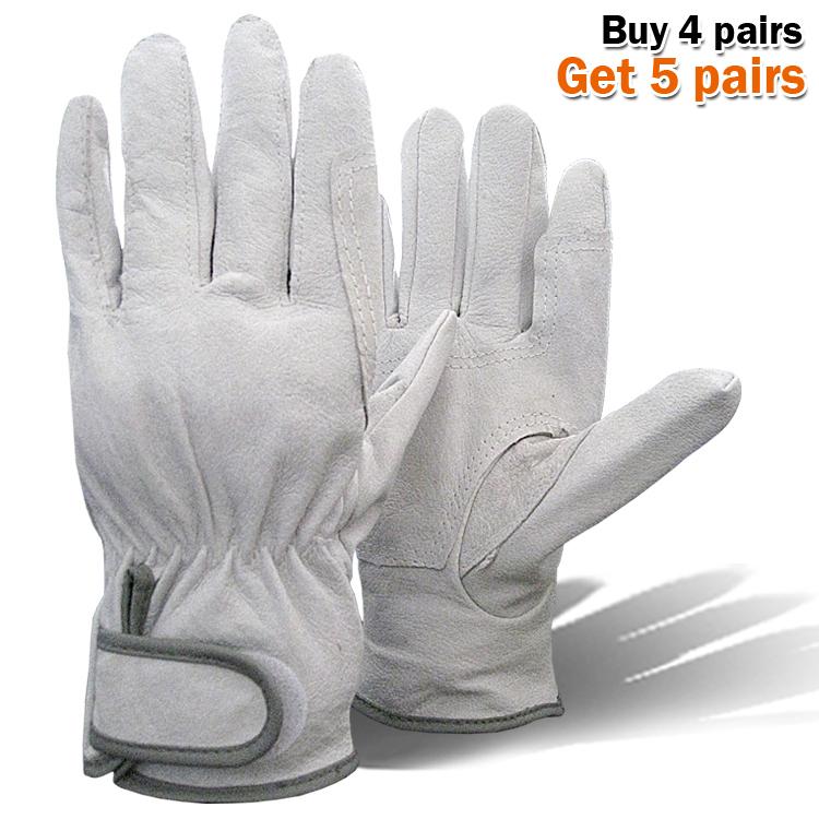 Износ - устойчивые вообще свиной кожаные перчатки безопасности труда перчатки для работников