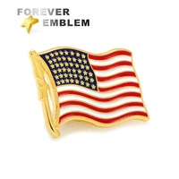 Custom American Country Flag Lapel Pin Soft Enamel