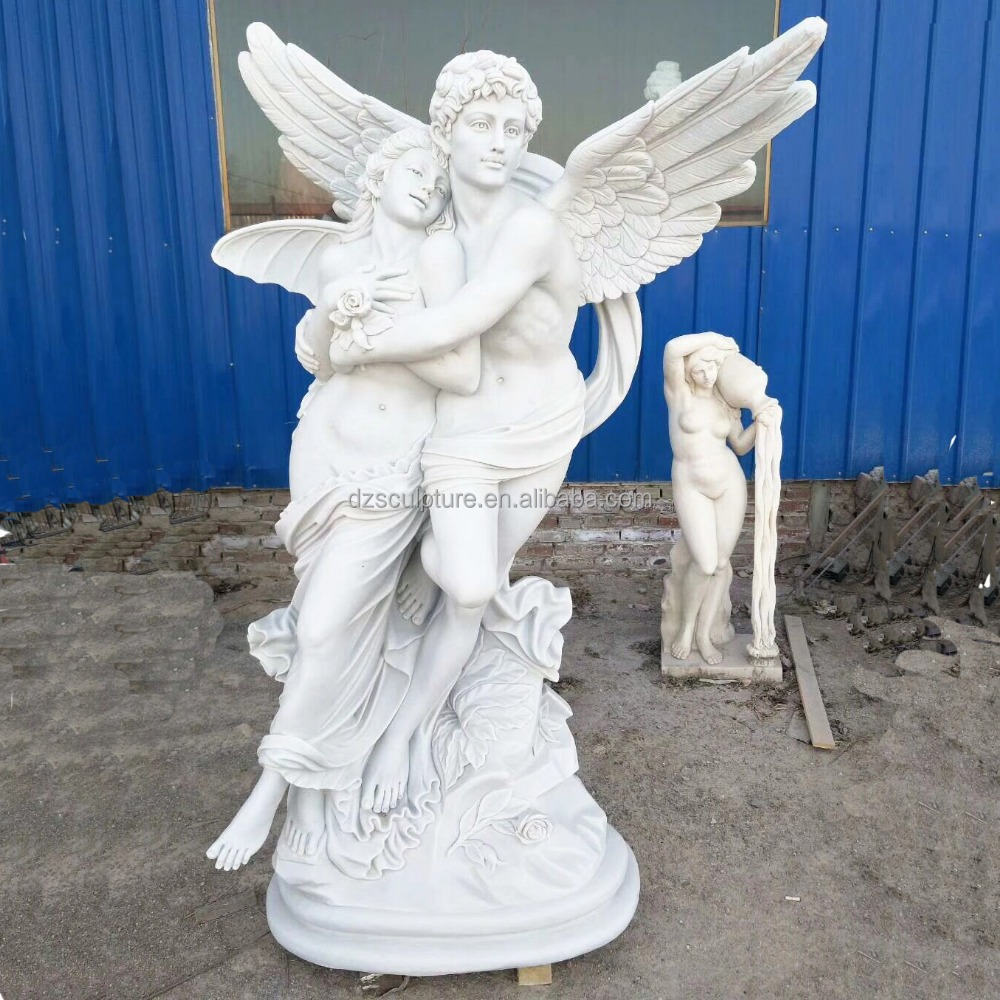 Marble stone carving modern abstract good angel sculpture