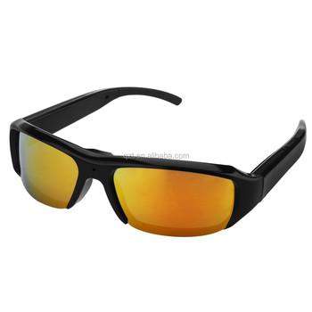 66c93e5bcee31 HD1080P Black Gold Lens Audio Video Recorder Bolon Spy Sunglasses Camera